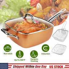 4pcs Non Stick Healthy Copper Kitchen Cookware Kit Induction Bottom Frying Pan