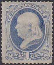 U.S. Stamp Scott 145 Benjamin Franklin 1 Cent Mint No Gum Hinged
