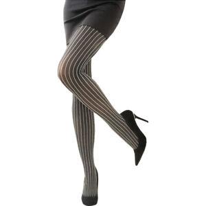 Pinstripe Tights Gangster Teacher Fancy Dress Costume 20's 1920s Moll Bugsy NEW