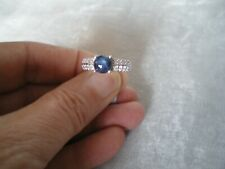 Blue Star Sapphire ring, size L/M, 2.46 carats, 3.49 grams of 925 Sterling Silve