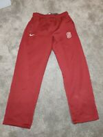 old school VintageNike Therma Fit Trousers/Bottoms/Joggers red size L