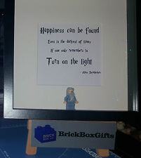 Harry Potter 3d Frame present gift customise Ron Hermione Dumbledore quote