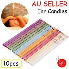 10pc Natural Beewax Ear Candles Aromatherapy Candle Candling Relax Spa Treatment