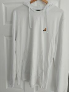 Brave Soul Hooded Top Large White NEW