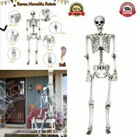 Life Size Halloween Skeleton Decoration Props 5.4ft Realistic Full Body Hanging