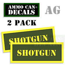 SHOTGUN Ammo Can Box Decal Sticker bullet ARMY Gun safety Hunting 2 pack AG