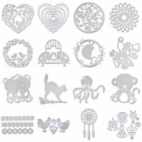 Flower Heart Cartoon Metal Cutting Dies DIY Scrapbook Album Paper Card Craft New