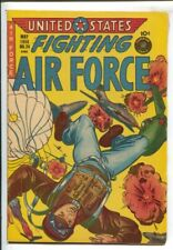 U.S. Fighting Air Force #24 1956-Superior-Korean War-Fight the commies-parach...