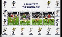 World Cup Championships mnh Souvenir Sheet 1998 Gibraltar soccer football