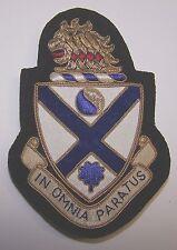 U S Army GOLD BULLION UNIT INSIGNIA 114th Infantry Battalion (RARE - 25 MADE)