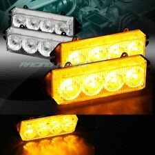 16 LED AMBER CAR EMERGENCY HAZARD WARNING GRILLE FLASH STROBE LIGHT UNIVERSAL 6
