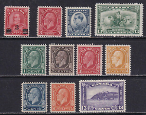 Canada Complete Set of 1932 Issues #191-201. Mostly MH  HICV
