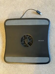 Belkin USB Powered Laptop Cooling Fan & Stand Black Computing Cooler Pad F5L001