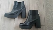 New Look Black Chunky Platform Chelsea Ankle Boots Pull On UK 7 (40)
