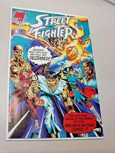 Street Fighter #1 High Grade 1st Issue Malibu Comics Ken Ryu Bison Sagat Honda