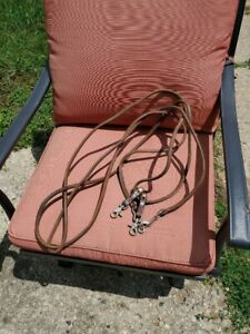 Tough 1 rolled harness leather draw reins