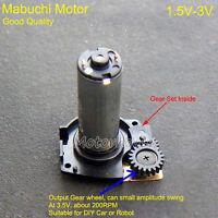DC 1.5V 3V 160RPM Mabuchi Gear Motor Gearbox Reduction Gear Wheel Car Robot DIY