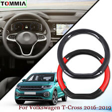 Car Styling Carbon Fiber Leather Car Steering Wheel Cover For Volkswagen T-Cross