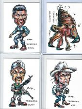 TREMORS SET OF 4 ** TRADING CARD ART SIGNED by RAK ** GRABOID VAL EARL BURT