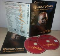 QUINCY JONES - THE 75TH BIRTHDAY CELEBRATION - LIVE MONTREAUX 2008 - 2 DVD