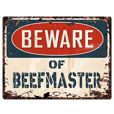 PP1800 Beware of BEEFMASTER Plate Rustic Chic Sign Home Store Wall Decor Gift