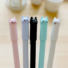 Cute Kawaii Cat Black Gel Ink Roller Ballpoint Pen Office School Stationery Kids