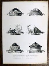 Gravure URBAIN DUBOIS Cuisine Artistique 1874 Bécassine / Chaufroix de Perdreaux