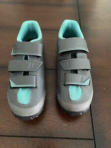 Shimano Women Cycling Bike Shoes Gray Teal Size 8 US (EU 40) SH - ME200