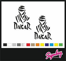 2 x DAKAR Cut Vinyl Decal Stickers Defender Range Rover Land Rover (150 x 110)
