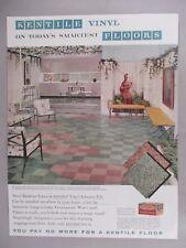 Kentile Vinyl Floors PRINT AD - 1958 ~~ asbestos tile