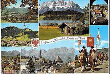 Luftkurort Kitzbuhel Perle von Tirol Austria Germany Oversize vintage postcard i