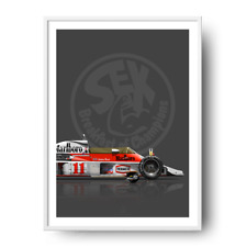 James Hunt McLaren M23 1976 Sex Breakfast of Champions 50cm x 70cm Poster
