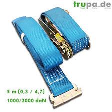 4 x Spanngurt Zurrgurt 1000/2000 daN, 5 m, 50 mm, 2-teilig f. Kombi-Ankerschiene
