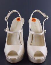 Enzo Angiolini White Patent Leather Peep Toe Slingback Heels Sz 9.5M