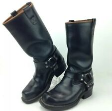 """Wesco 14"""" Harness BOOTS Motorcycle Engineer Lined Men's Custom  Size 9 D Black"""