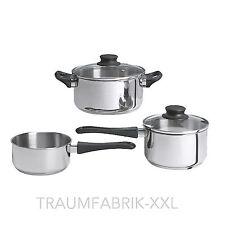ensemble des casseroles INDUKTIONS SET DE 5 pièces inox pots induction NOUVEAU &