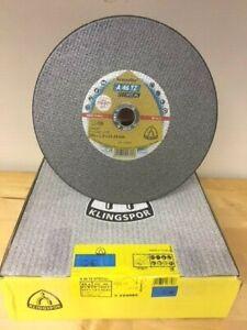 "Klingspor 230mm / 9"" thin metal cutting discs Kronenflex A 46 TZ Special"