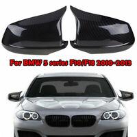 For BMW F10 F11 Pre-LCI 2011-2013 Carbon Fiber Look Door Side Mirror Cover Caps