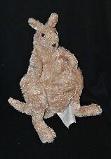 Peluche doudou kangourou IKEA Kapplar känguru beige poche ventrale 35 cm TTBE