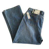 St Johns Bay Women's Jeans Stretch Medium Wash Blue Boot Cut Plus Size 18WS NEW