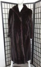 SHOWROOM NEW CANADIAN DARK RANCH MINK FUR COAT JACKET WOMEN WOMAN SIZE 10 M