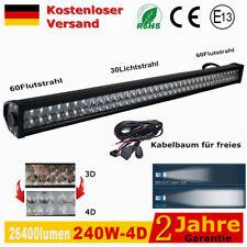 """42"""" Light Bar 240W 4D LED lichtbalke Arbeitsscheinwerfer Geländewagen Lichter"""