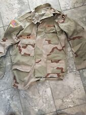 US ARMY Military DESERT STORM COMBAT Shirt Uniform XLarge REGULAR Patches