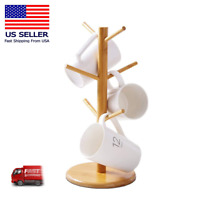 Kitchen Mug Tree Holder Coffee Cup Tea Drying Rack Stand Storage Organizer