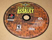 WCW Backstage Assault (Game Only) Playstation PS1 Fast Shipping