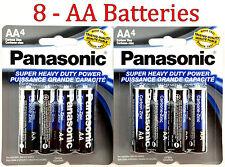 8 Wholesale Panasonic AA Double A Batteries heavy Duty Battery 1.5v Bulk lot