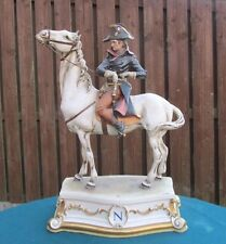 CAPODIMONTE MOUNTED FIGURE DEPICTING NAPOLEON BONAPARTE - BRUNO MERLI c.1960's