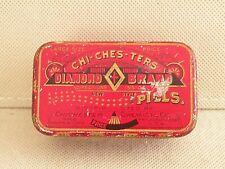 Chichesters Pills Diamond Brand Pills Tin Medicine Early 1900's Empty & Clean
