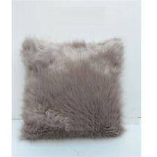 "18"" Soft Fur Plush Square Throw Pillow Cases Cushion Cover Home Decor Sofa Waist"