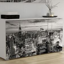 Aparador bufe de salon comedor color blanco moderno diseño Nueva York 86x160 cm